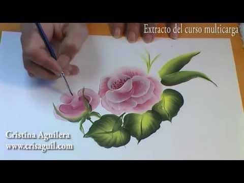 Curso pintura muticarga pintar rosas painting roses - Aprender a pintar ...
