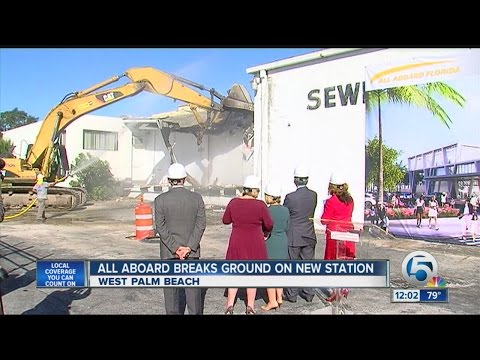 All Aboard Florida breaks ground on West Palm Beach station