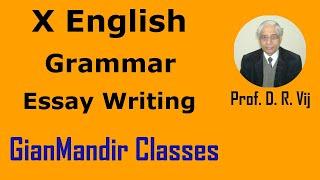 X English  - Grammar - Essay Writing by Nandini Mam