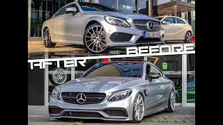 """SIFIR"" 0 Km Mercedes-Benz C180 Coupe'yi C63s AMG ''ye Çevirdik!"