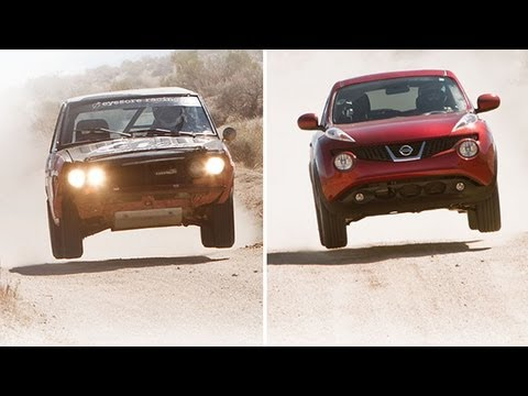Desert Showdown: 2011 Nissan Juke vs. 1971 Datsun 510 Rally Race