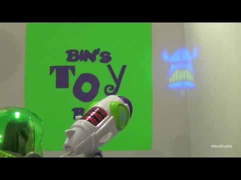 Buzz Lightyear Power Projector Talking Action Figure! Toy Story Review by Bin's Toy Bin