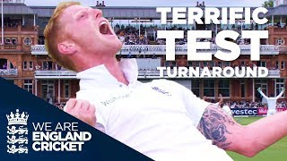 England Complete One Of The Great Test Match Turnarounds v New Zealand at Lord's 2015 - Highlights