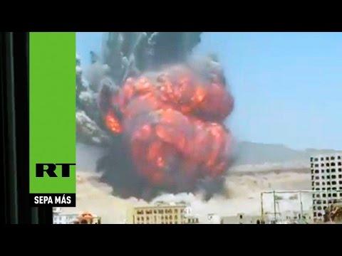 Un testigo graba la escalofriante explosión en Yemen