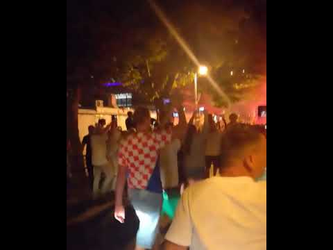 Croatia fans Celebration after win over russia thumbnail