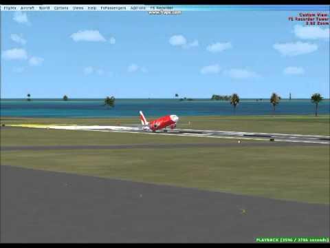 flight simulator air asia landing at bali wadd