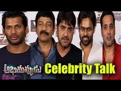 Abhimanyudu Movie Public Talk | Abhimanyudu Movie Celebrity Talk | Vishal | Samantha #Abhimanyudu