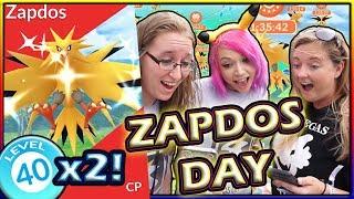 HITTING LEVEL 40 AGAIN ON SHINY ZAPDOS DAY POKEMON GO!
