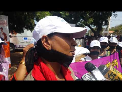 Tamil Women Protest Against Sl Navy Rape Of Children video