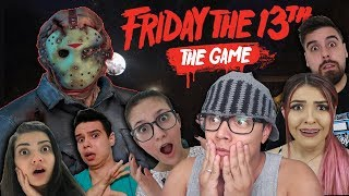 O JASON ATACOU OS YOUTUBERS - Friday The 13th The Game