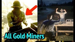 All Gold Panners in Red Dead Redemption 2 (RDR2): Mexican, Black, and White Gold Miners
