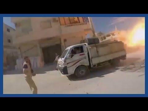 The moment a Russian airstrike hit a hospital clinic in Syria