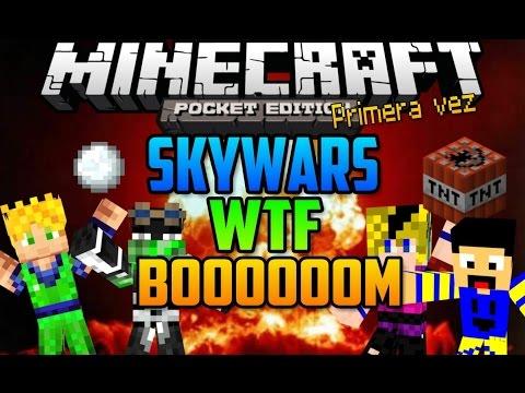 Minecraft PE Skywars por Primera vez WTF BOOOOM #LPE