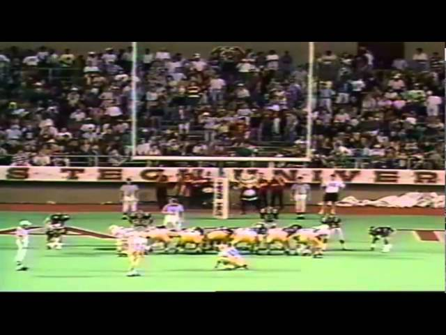 Oregon WR Anthony Jones 16 yard touchdown catch vs. Texas Tech 9-14-1991