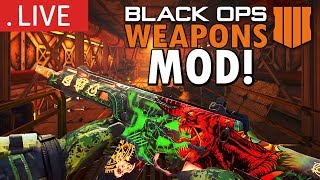 ALL BLACK OPS 4 ZOMBIES WEAPONS ON SUB DRILLING! (Call of Duty: Zombies Mods)