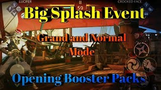 Shadow Fight 3 : Big Splash Event , Both grand and normal mode, opening booster packs