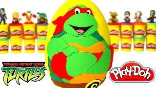 Huevo Sorpresa Gigante de Las Tortugas Ninja en Español de Plastilina Play Doh