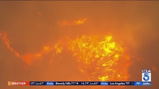 Apple Fire burns 26,450 acres as evacuations remain in place in Cherry Valley