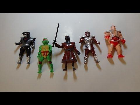 Обзор игрушек.Черепашки-ниндзя. 5 мини-фигурок.