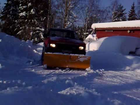 Home made snow plow for king cab