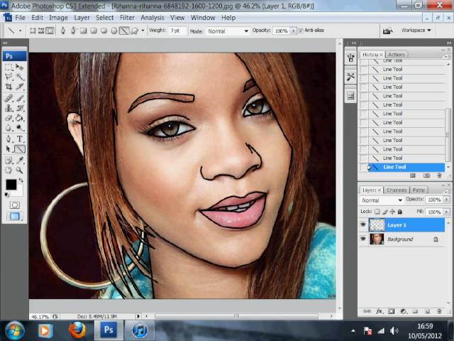 HOW TO MAKE A CARTOON OF YOURSELF ON PHOTOSHOP [PART 1]