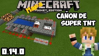 Minecraft pocket edition cañones de TNT super potentes build 2!!