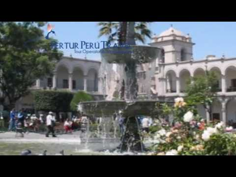 Peru Travel Guide - The Plaza de Armas of Arequipa