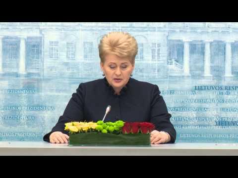 EBU Grybauskaite annual presser