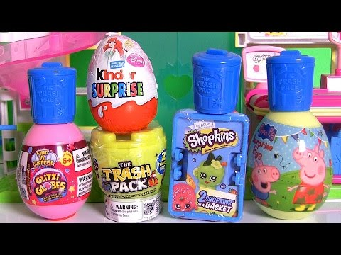 Shopkins Surprise Basket ♥ Glitzi Globes ♥ Kinder Disney Princess Ariel ♥ Peppa Pig ♥ Furby Boom! Music Videos