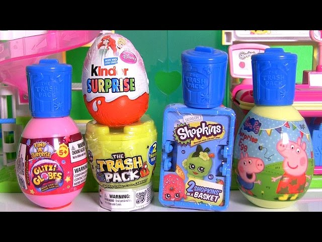 Shopkins Surprise Basket ♥ Glitzi Globes ♥ Kinder Disney Princess Ariel ♥ Peppa Pig ♥ Furby Boom!