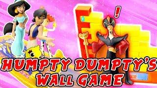 Toy Story 4 & Disney Aladdin Humpty Dumpty's Wall Game! W/ Jasmine, Ducky and Bunny