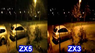 Kodak Playsport ZX5 & ZX3 low light comparison