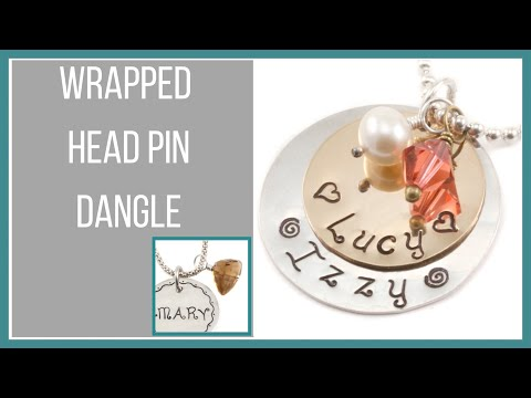 Wrapped Head Pin Dangle - Beaducation.com