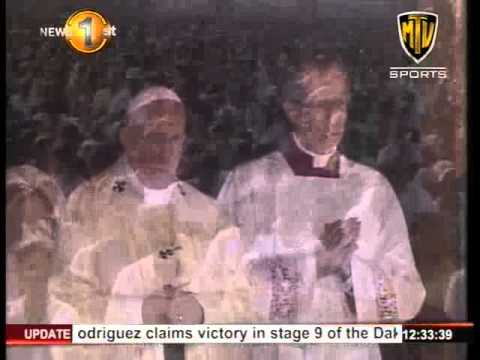 News1st His Holiness Pope Francis canonized Joseph Vaz as Sri Lanka's first saint