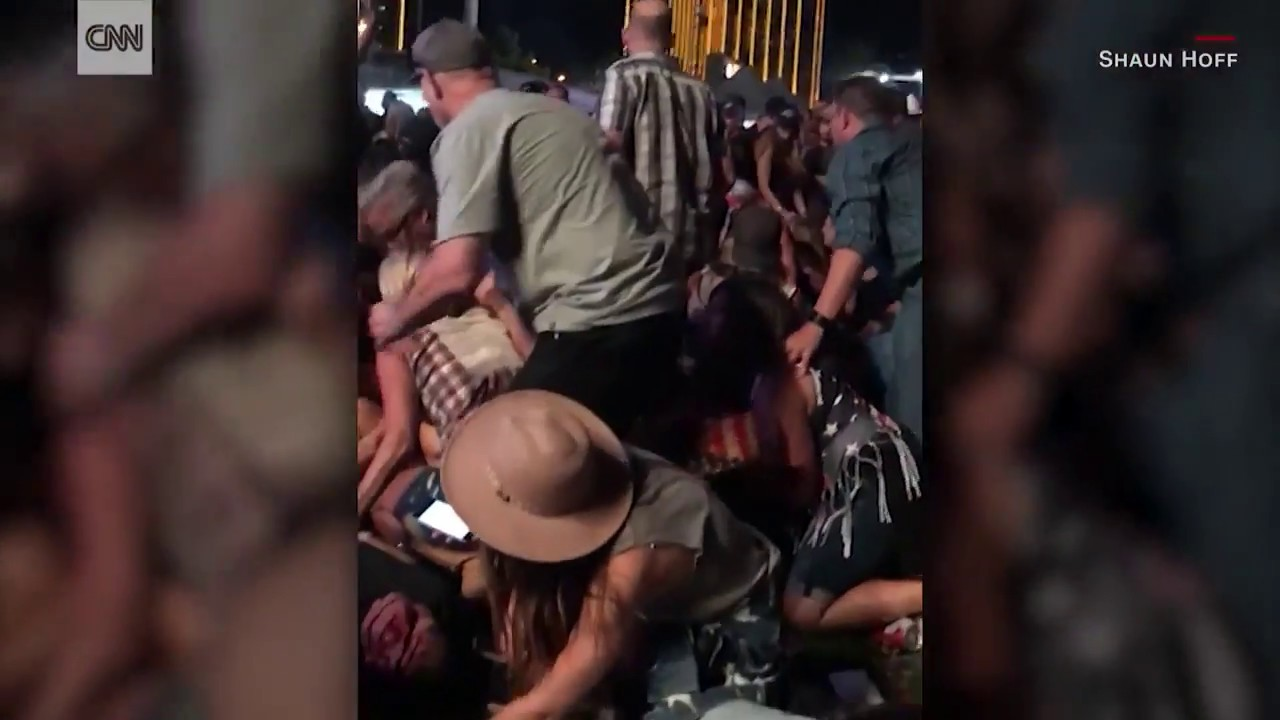 Las Vegas shooting: Rapid-fire shots, then 'Stay down!'
