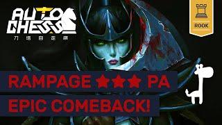 RAMPAGING ★★★ ASSASSINS! Dota Auto Chess EPIC PA COMEBACK!!