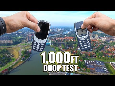 Nokia 3310 vs. New Nokia 3310 DROP TEST from 1000 FEET!!   Durability Review