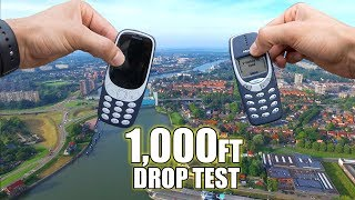 New Nokia 3310 vs. Old Nokia 3310 DROP TEST From 1,000 Feet! | Durability Review