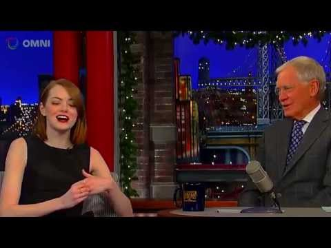 Emma Stone on David Letterman December 15th 2014 Full Interview