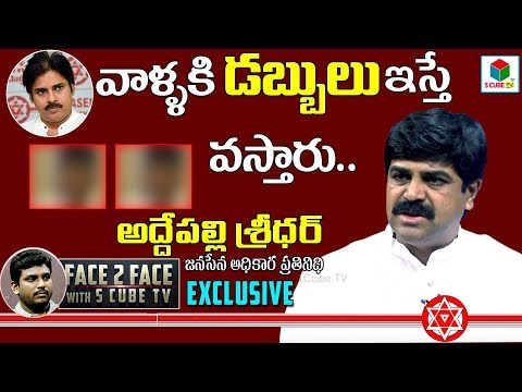 Addepalli Sridhar Interview| Janasena Spokes Person |  | Pawan Kalyan | AP Elections 2019 | S CubeTV