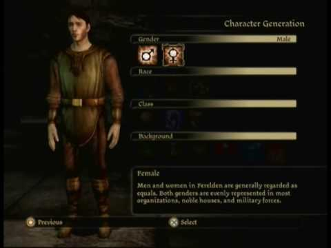 Dragon Age Origins Characters Creation Dragon Age Origins Playthrough