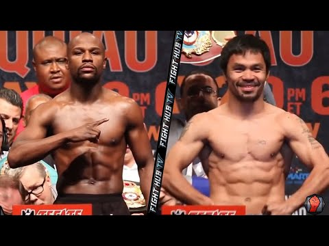 Floyd Mayweather vs. Manny Pacquiao full video- COMPLETE weigh in & Face Off video