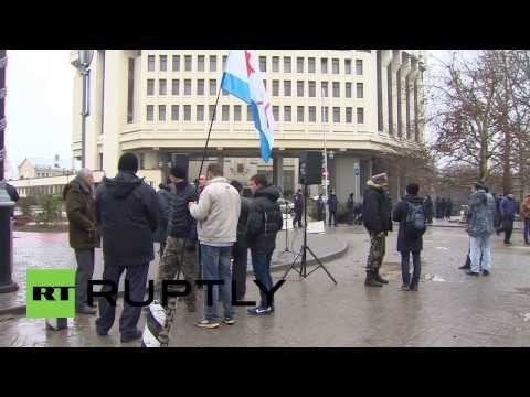 Ukraine: Pro-Russians rally in front of parliament