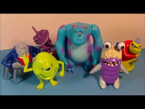 2001 DISNEY'S MONSTERS Inc. SET OF 6 McDONALD'S HAPPY MEAL MOVIE TOY'S ASIA EXCLUSIVE VIDEO REVIEW