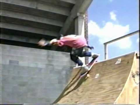 Beginner's Learn How to Skate a Half Pipe Ramp 1988 Old School Skateboards