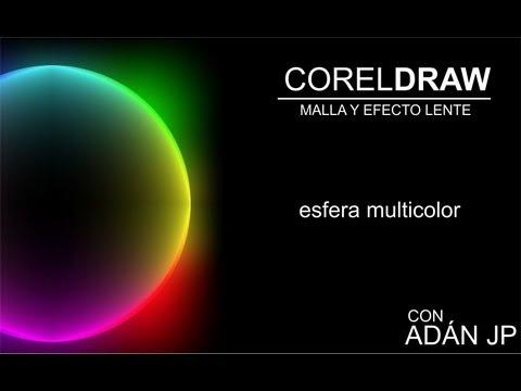CorelDRAW, Herramienta MALLA, esfera multicolor exclusivo de @ADNDC @adanjp