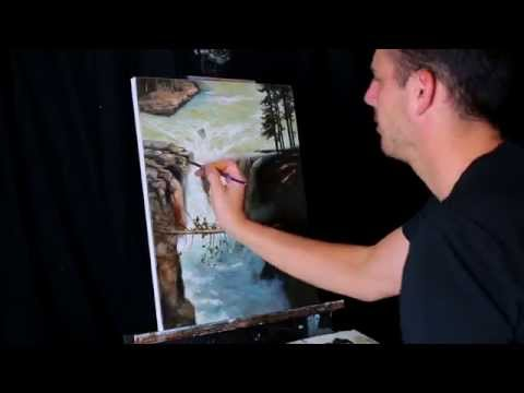 Time lapse speed painting Jasper Waterfall, A landscape by Tim Gagnon