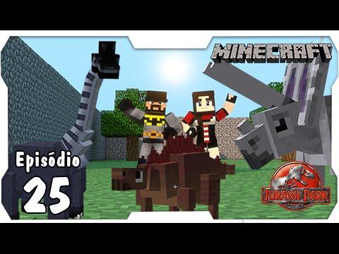 Minecraft Jurassic Park #25: Organizando o Novo Espaço para os Herbívoros [Dino Cube]