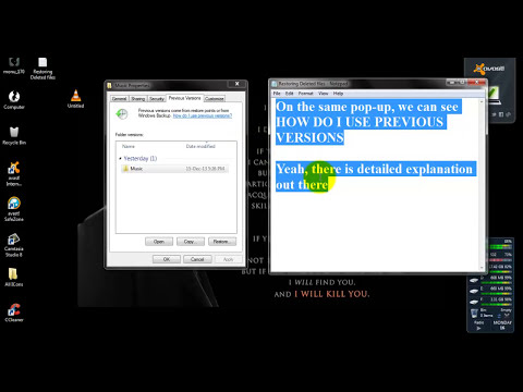 How to RESTORE permanently DELETED files WITHOUT any software for free (WINDOWS 7)