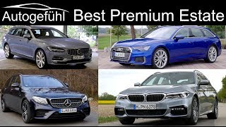 Audi A6 Avant vs BMW 5-Series Touring vs Mercedes E-Class Estate vs Volvo V90 comparison